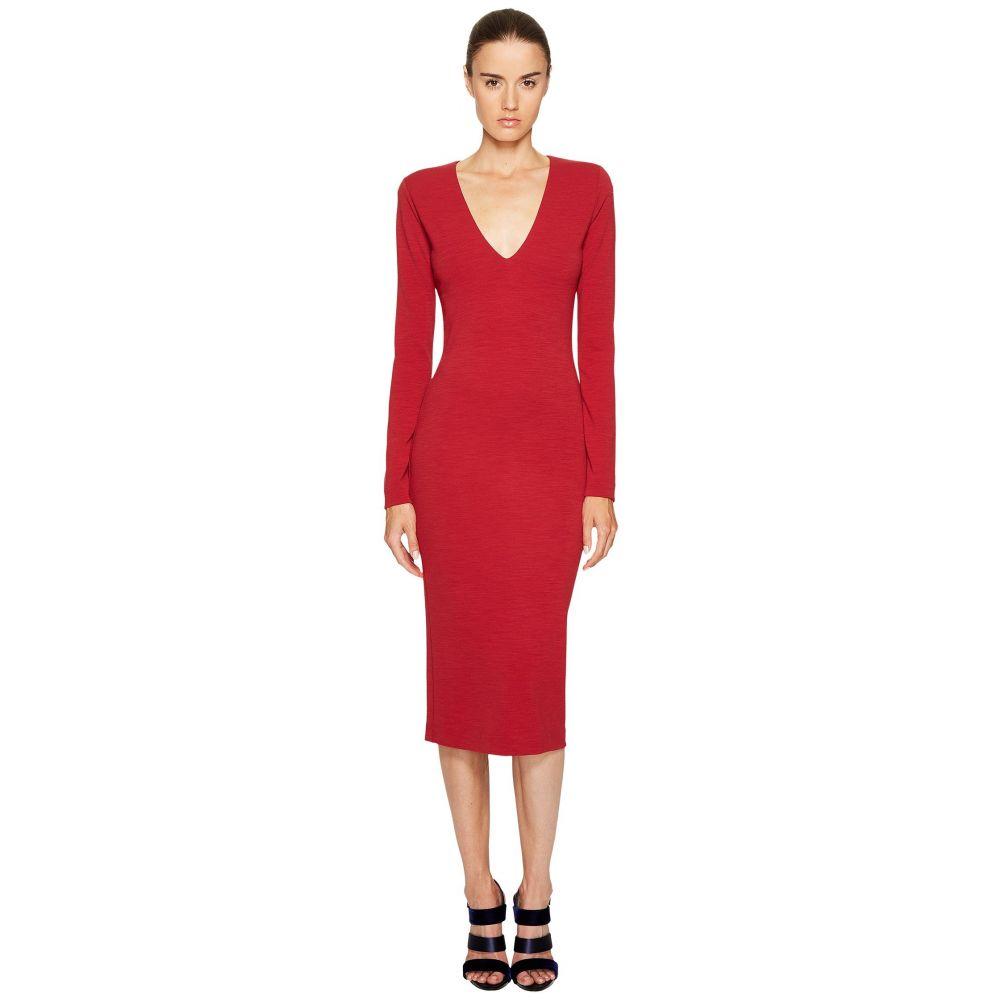 ディースクエアード レディース ワンピース・ドレス ワンピース【Wool Jersey Long Sleeve Dress】Red