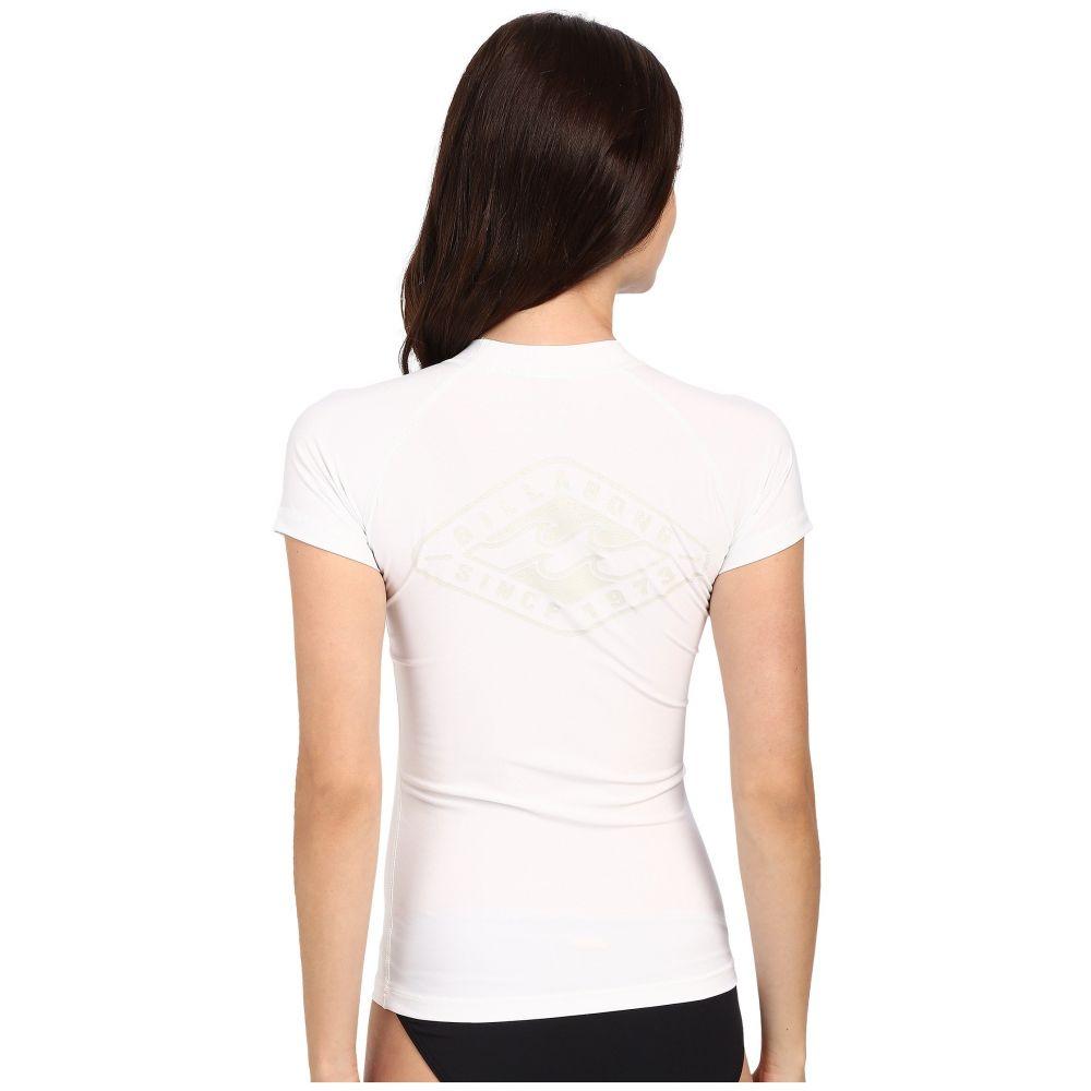 ビラボン レディース 水着・ビーチウェア ラッシュガード【Core Regular Fit Short Sleeve Rashguard】White