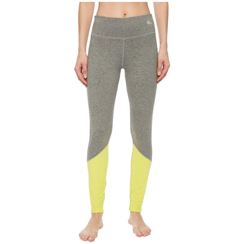 プーマ レディース インナー・下着 スパッツ・レギンス【Spark Logo Tights】Medium Gray Heather/Lemon Tonic
