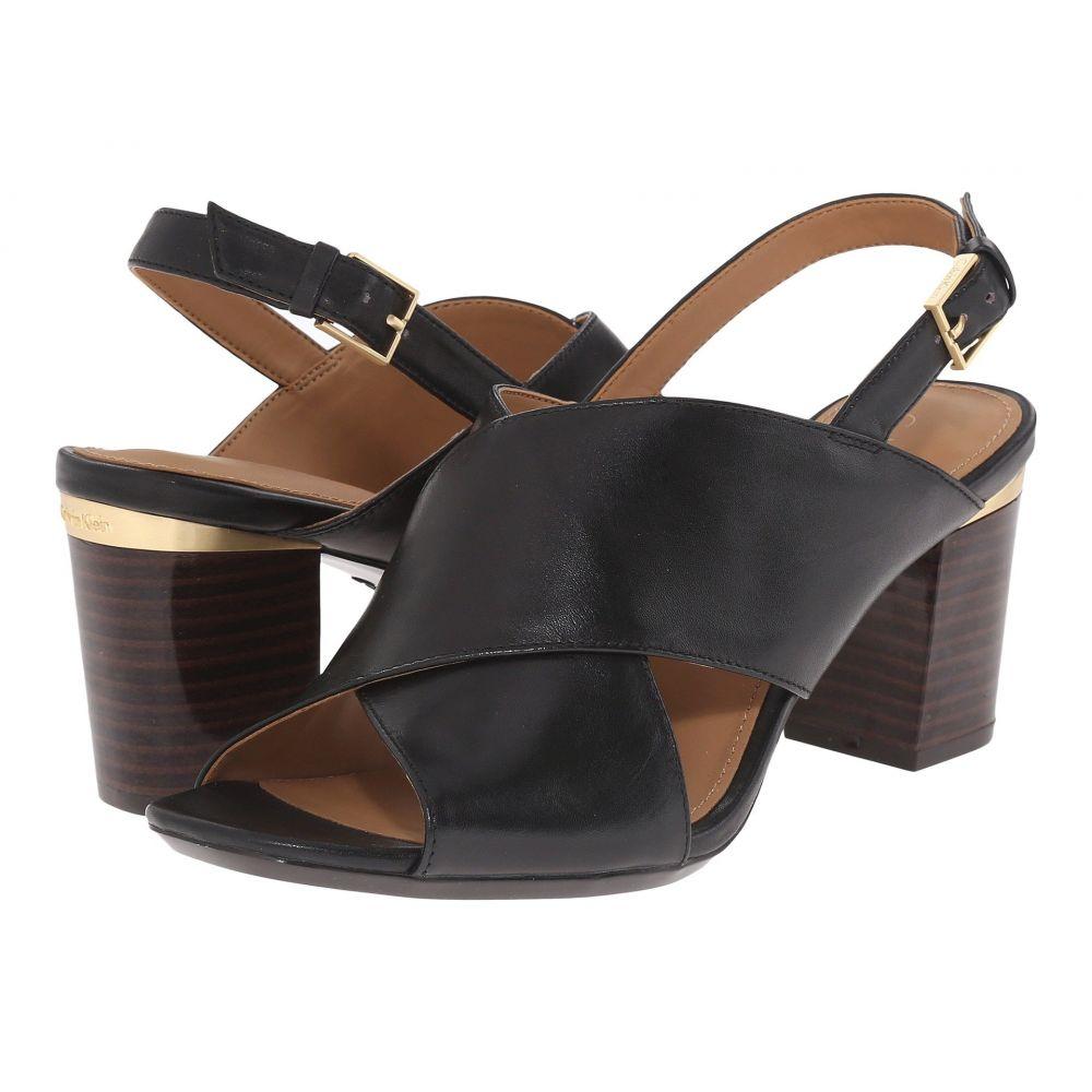 カルバンクライン レディース シューズ・靴 サンダル・ミュール【Cindya】Black Leather