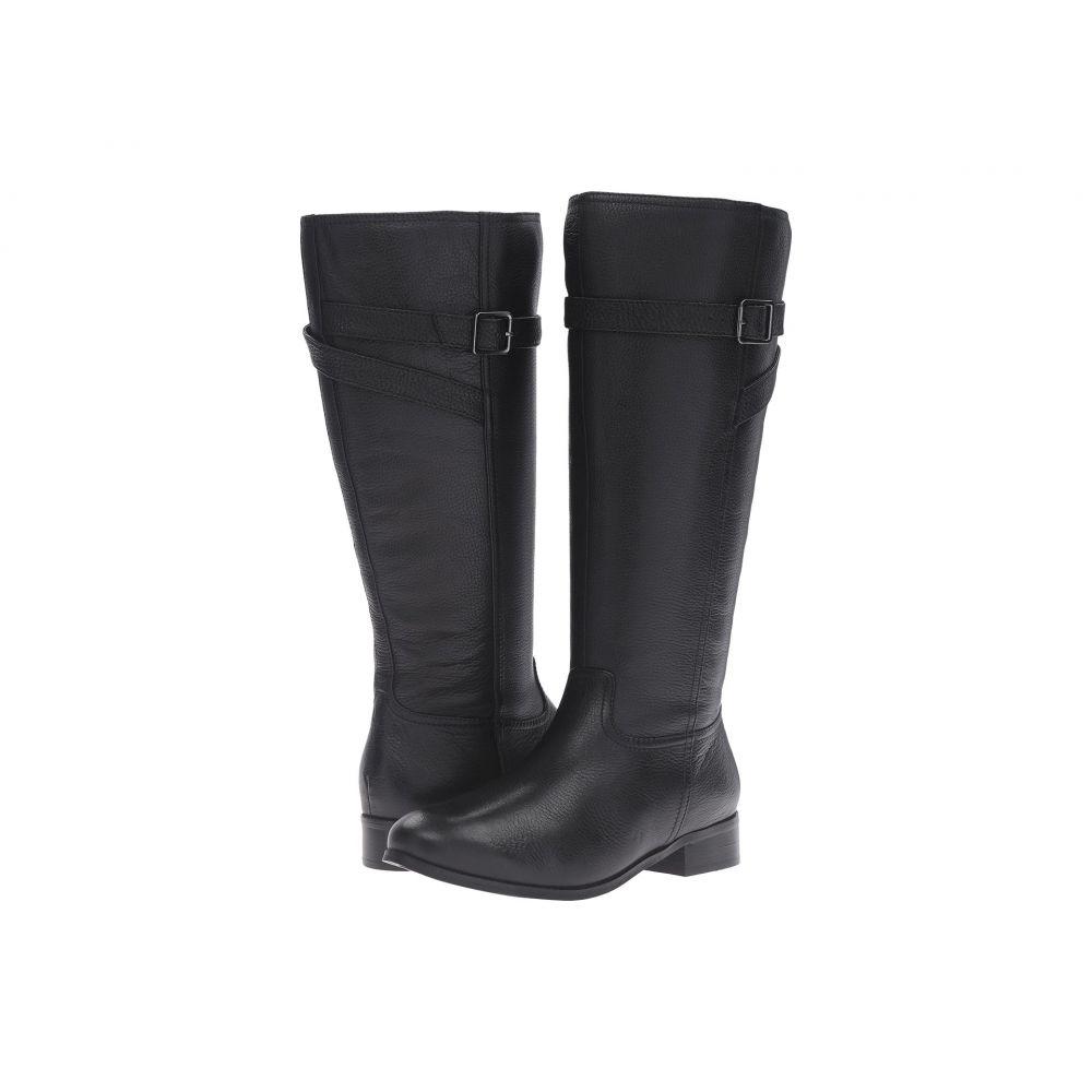 トロッターズ レディース シューズ・靴 ブーツ【Lyra Wide Calf】Black Veg Tumbled Leather