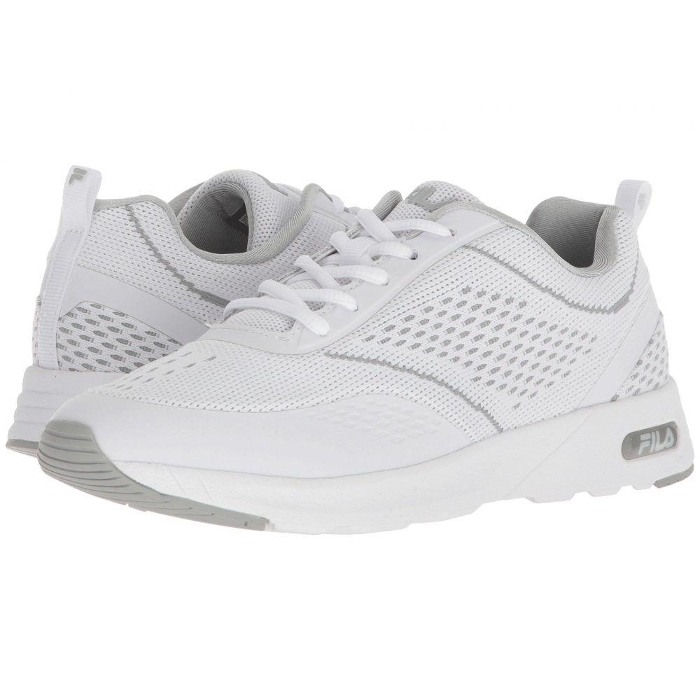 フィラ レディース ランニング・ウォーキング シューズ・靴【Memory Chelsea Knit Running】White/White/High-Rise
