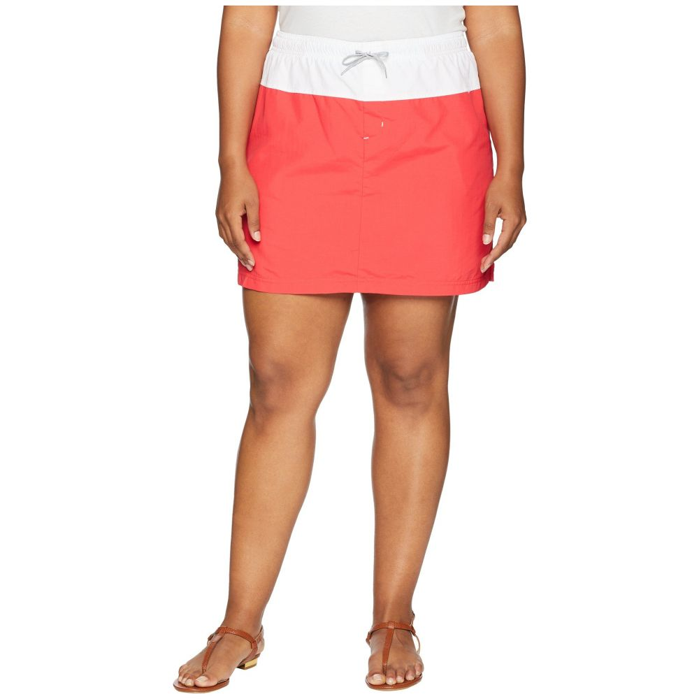 コロンビア レディース スカート ミニスカート【Plus Size Sandy River Skort】Red Camellia/White/Columbia Grey