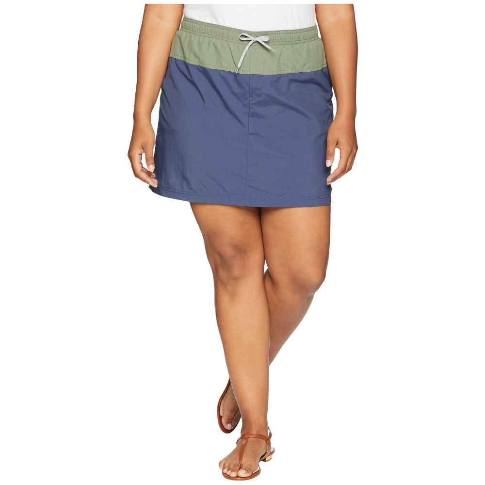 コロンビア レディース スカート ミニスカート【Plus Size Sandy River Skort】Nocturnal/Cypress/Columbia Grey