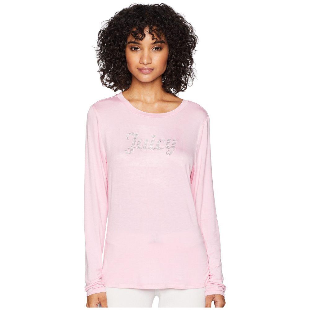 ジューシークチュール レディース トップス 長袖Tシャツ【Juicy Long Sleeve Tee】Pink Bubble