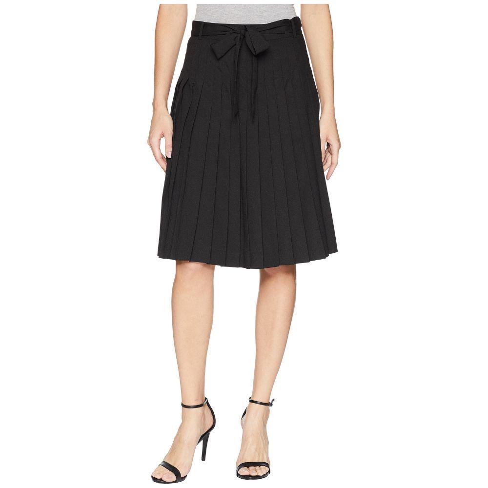 カルバンクライン レディース スカート【Pleated Skirt with Tie Waist】Black