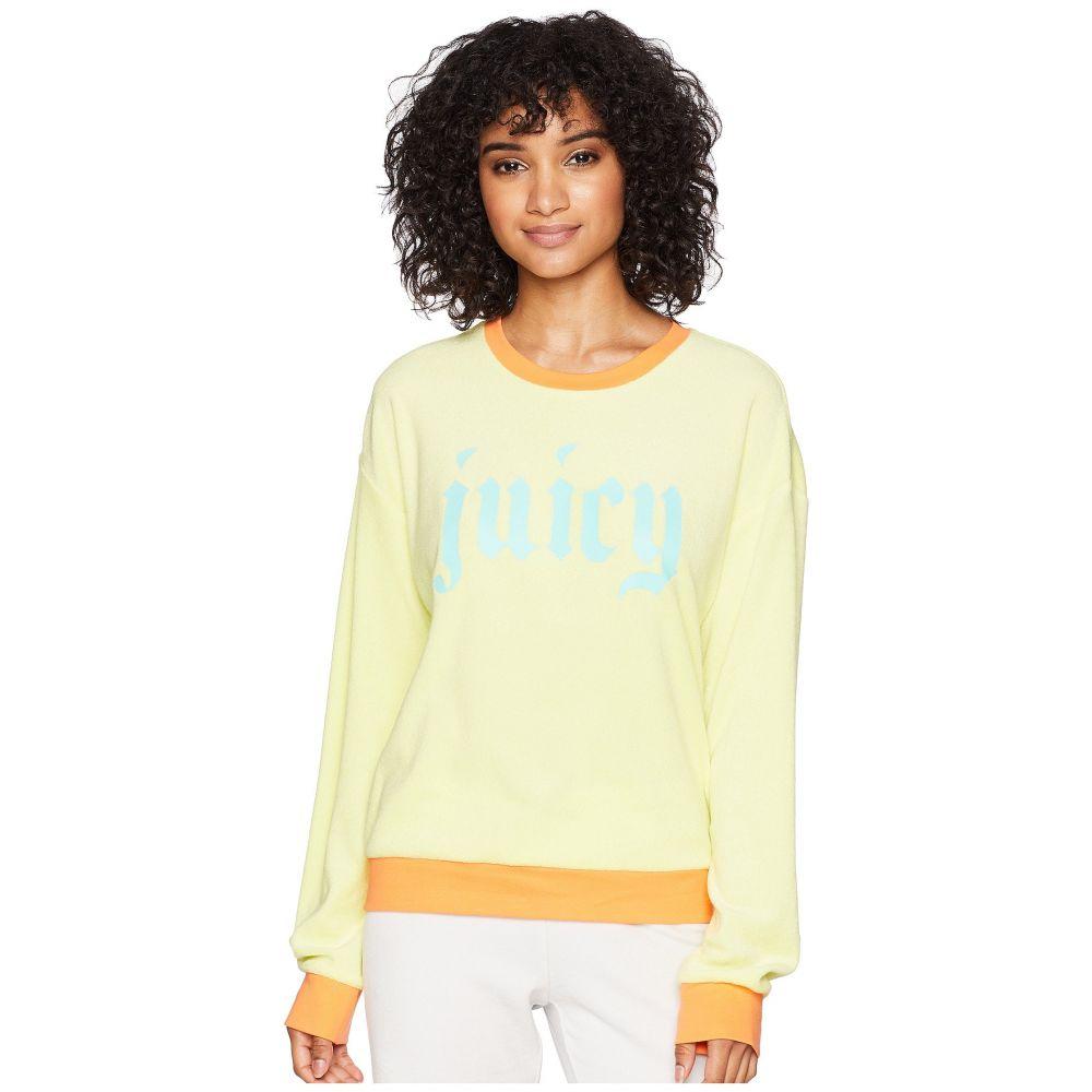 ジューシークチュール レディース トップス スウェット・トレーナー【Pullover Sweatshirt w/ Gothic Juicy Logo】Sunny Lime