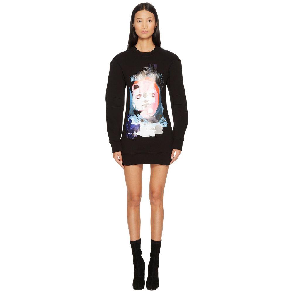 ヴェルサーチ レディース ワンピース・ドレス ワンピース【Sportivo Felpa Donna Printed Sweater Dress】Black/Stampa