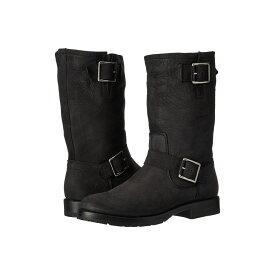 フライ レディース シューズ・靴 ブーツ【Natalie Mid Engineer】Black Soft Tumbled Nubuck