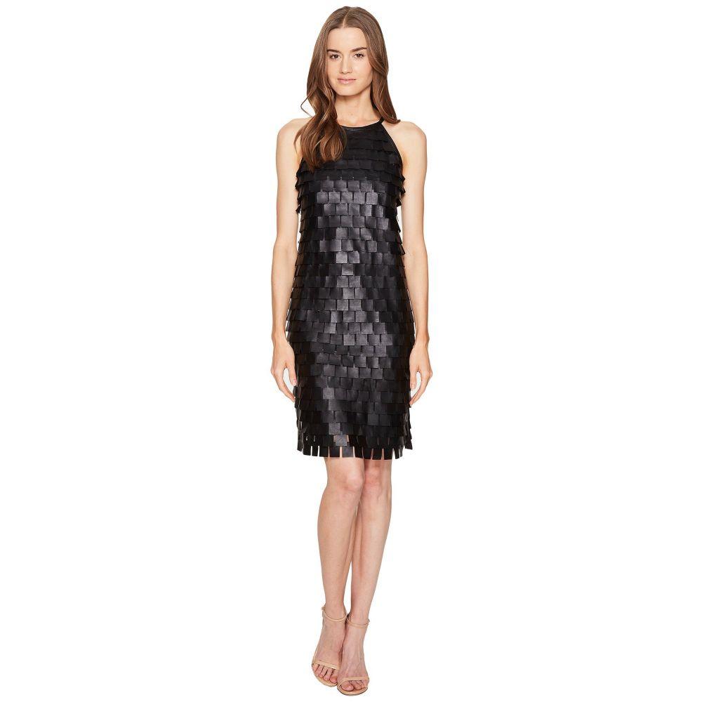 エスカーダ レディース ワンピース・ドレス ワンピース【Lafring Leather Petal Dress】Black