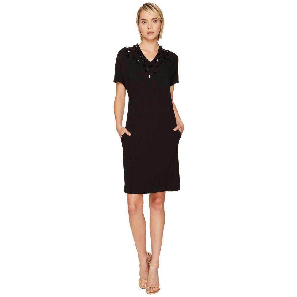 エスカーダ レディース ワンピース・ドレス ワンピース【Diflora Embellished Neckline Dress】Black