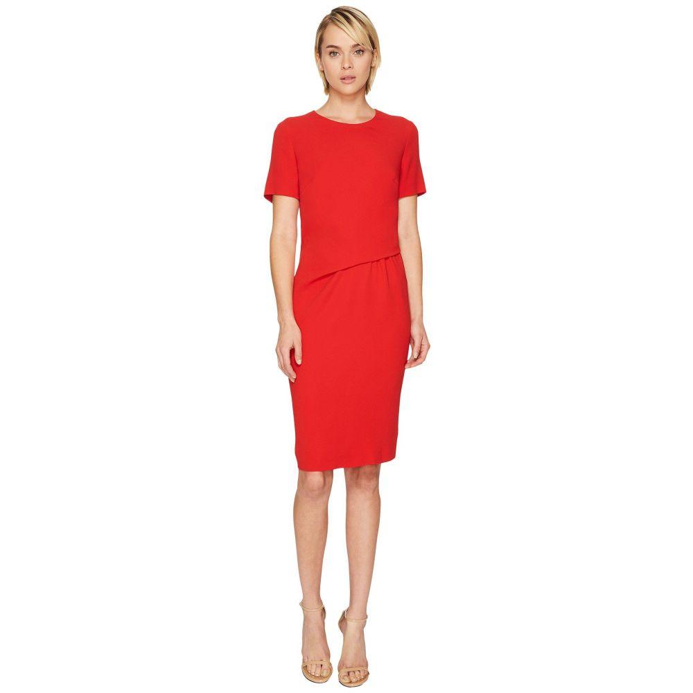 エスカーダ レディース ワンピース・ドレス ワンピース【Davine Short Sleeve Tucked Dress】Red