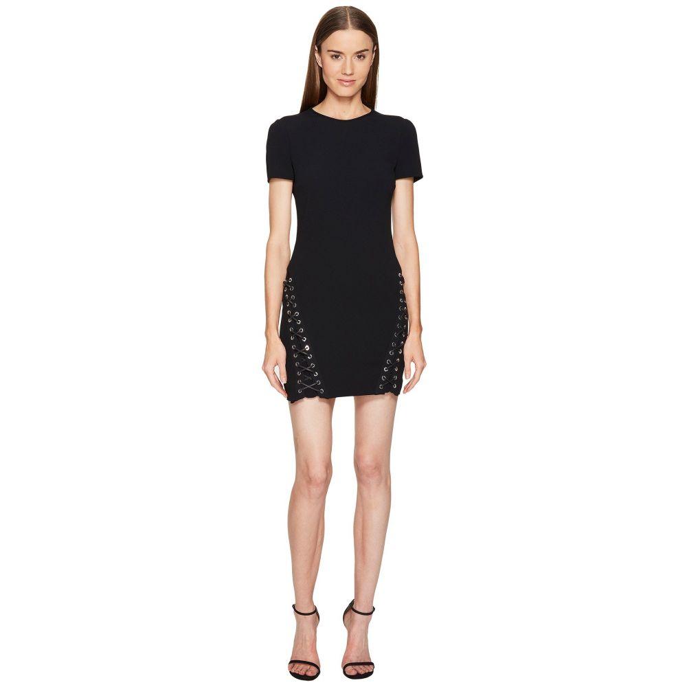 ディースクエアード レディース ワンピース・ドレス ワンピース【Boot Lacing Short Sleeve Dress】Black