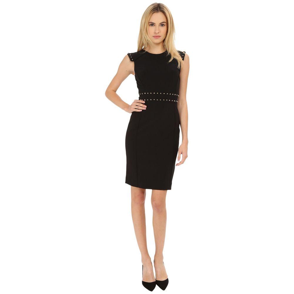 ヴェルサーチ レディース ワンピース・ドレス ワンピース【Dress with Stud Waist Detail】Black