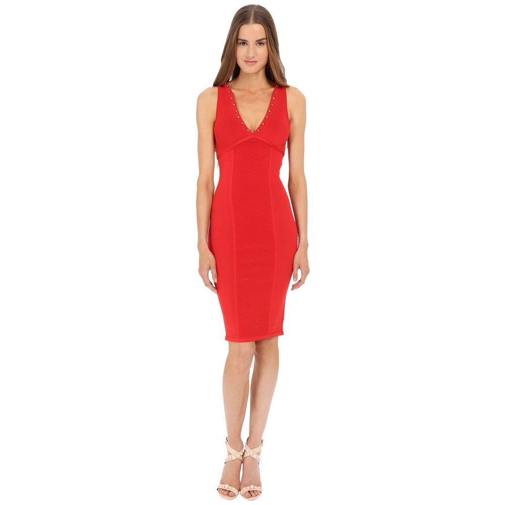 ヴェルサーチ レディース ワンピース・ドレス ワンピース【V-Neck Knit Dress】Red