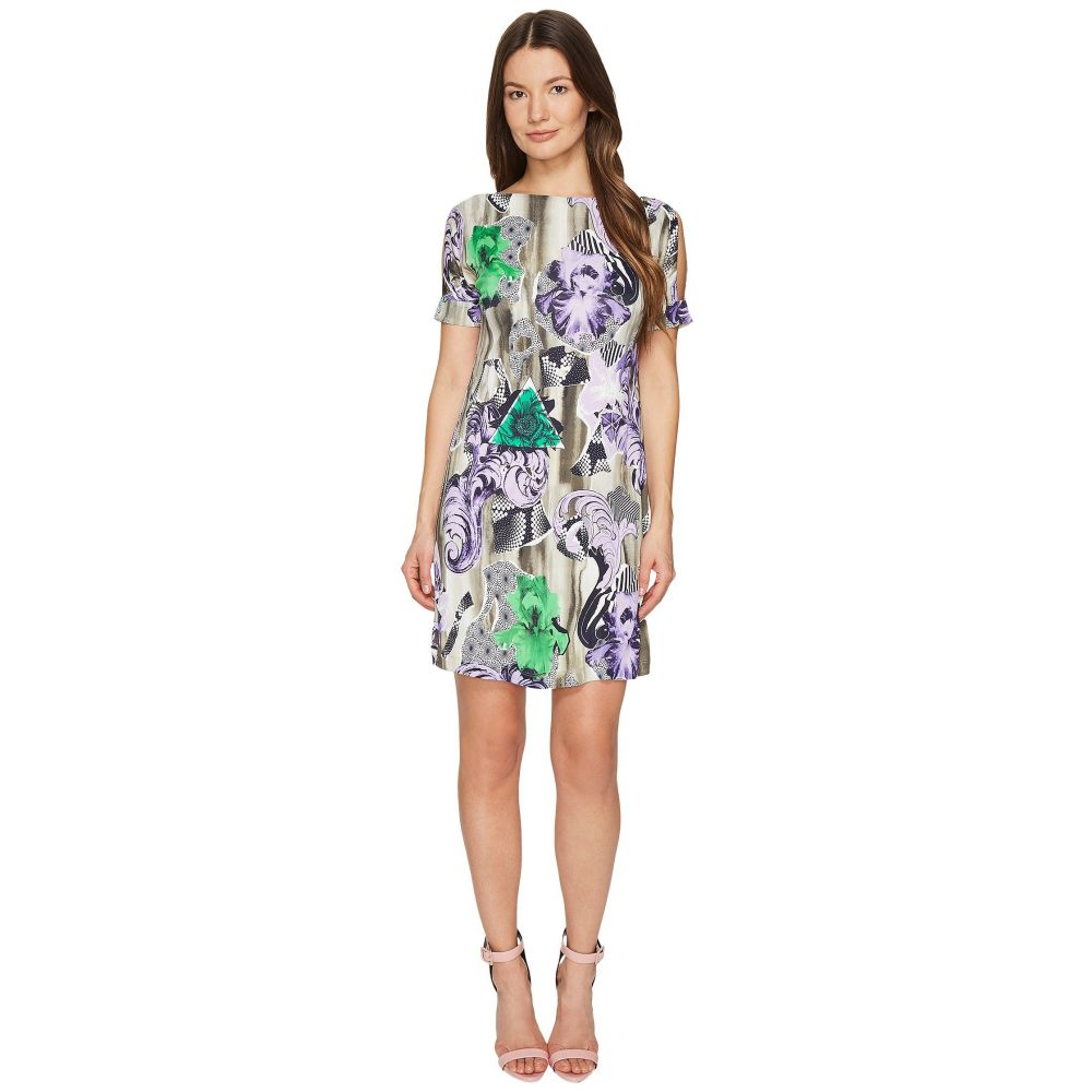 ヴェルサーチ レディース ワンピース・ドレス ワンピース【Jersey Short Sleeve Dress】Lavander/Stampa