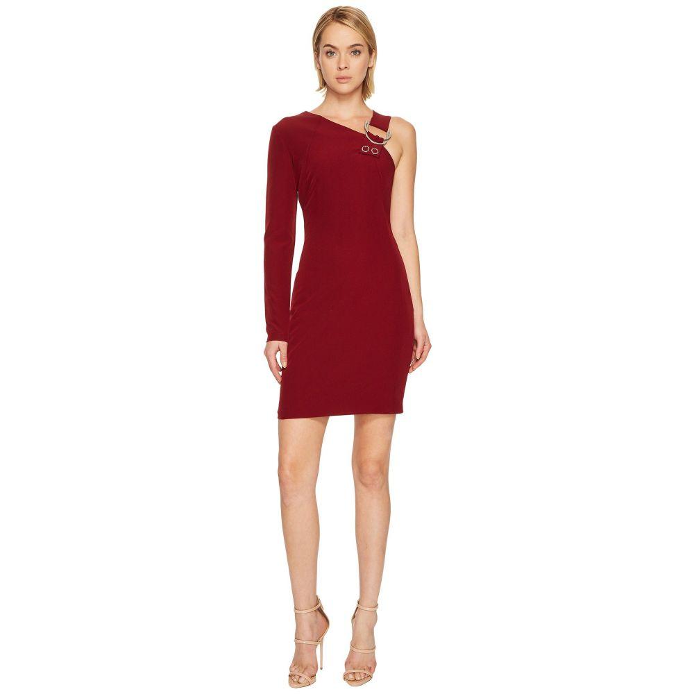 ヴェルサーチ レディース ワンピース・ドレス ワンピース【One Shoulder Long Sleeve Dress】Rhododendron Red