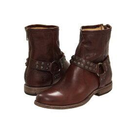 フライ レディース シューズ・靴 ブーツ【Phillip Studded Harness】Dark Brown Soft Vintage Leather