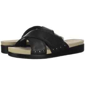 ハッシュパピー Hush Puppies レディース シューズ・靴 サンダル・ミュール【Chrysta X-Band Slide】Black Leather
