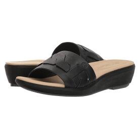 ハッシュパピー Hush Puppies レディース シューズ・靴 サンダル・ミュール【Lyricale Braid Slide】Black Leather