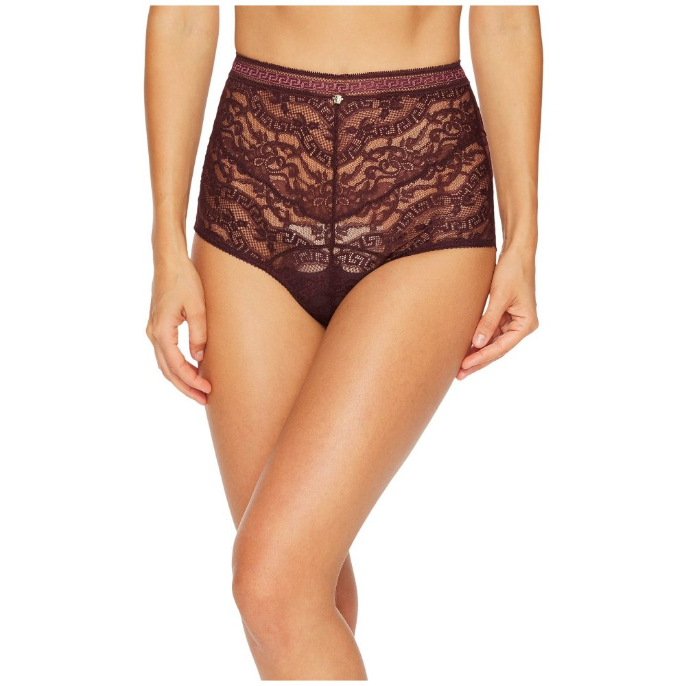 ヴェルサーチ Versace レディース インナー・下着 ショーツのみ【High Waisted Lace Greek Panty】Burgundy