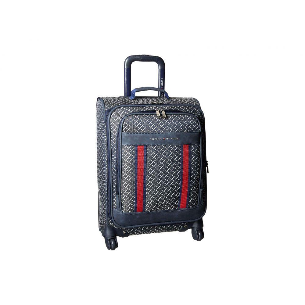 トミー ヒルフィガー Tommy Hilfiger メンズ バッグ スーツケース・キャリーバッグ【Diamond Jacquard 21 Upright Suitcase】Navy