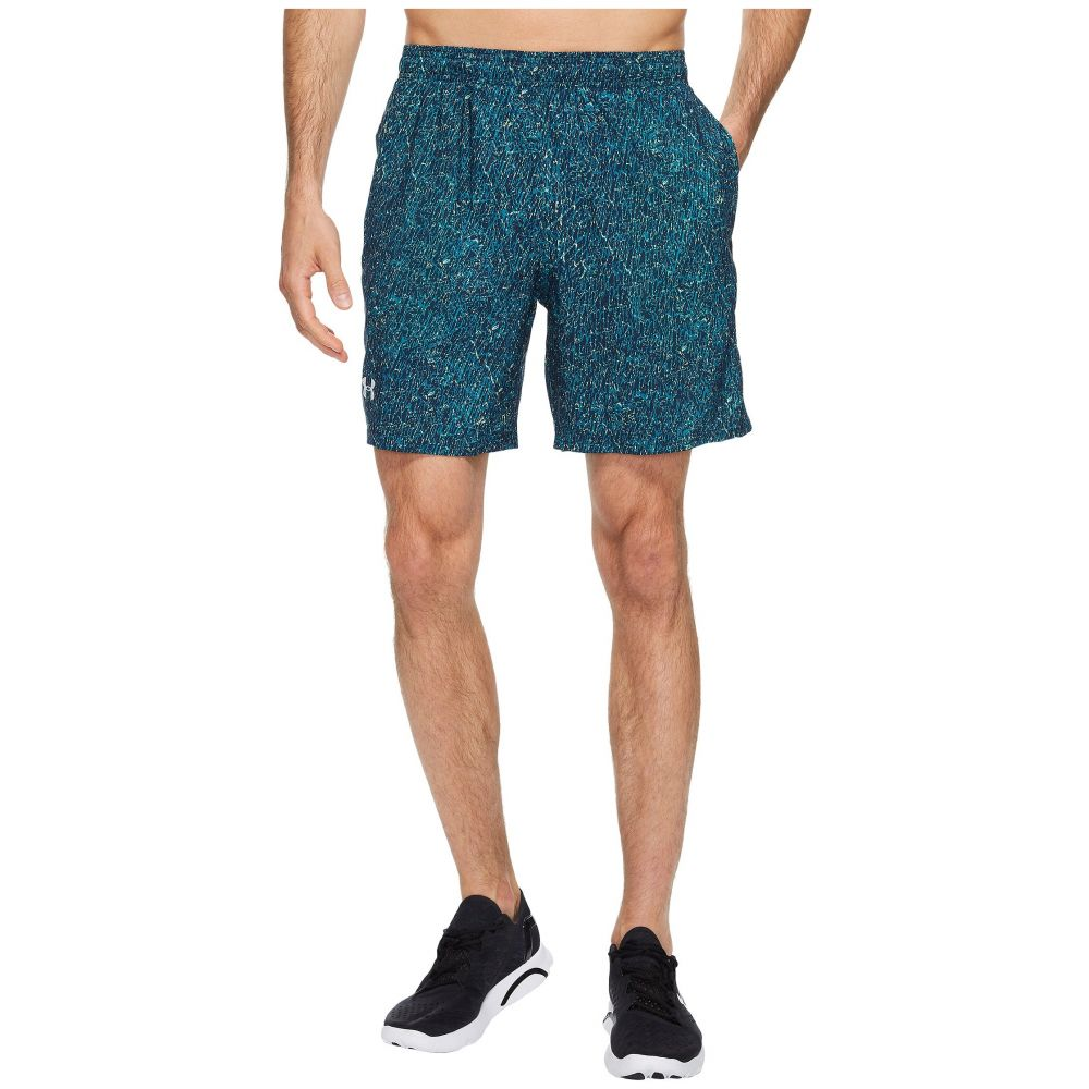 アンダーアーマー Under Armour メンズ ボトムス・パンツ ショートパンツ【UA Launch Stretch Woven Print Shorts】Bayou Blue/Quirky Lime/Reflective