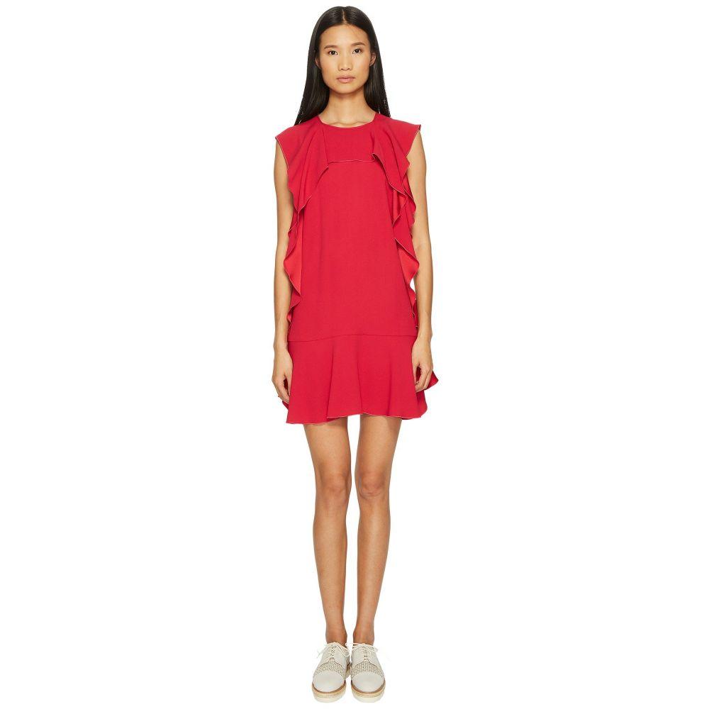 ヴァレンティノ RED VALENTINO レディース ワンピース・ドレス ワンピース【Crepe Envers Satin Dress with Ruffle】Pink
