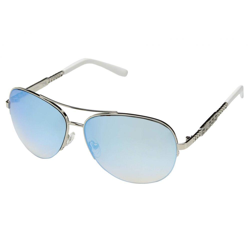 ゲス GUESS レディース メガネ・サングラス【GU7367】Shiny Silver/Blue Mirror