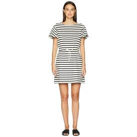 ケイト スペード Kate Spade New York レディース ワンピース・ドレス ワンピース【Stripe Drop Shoulder Dress】Off-White/Black