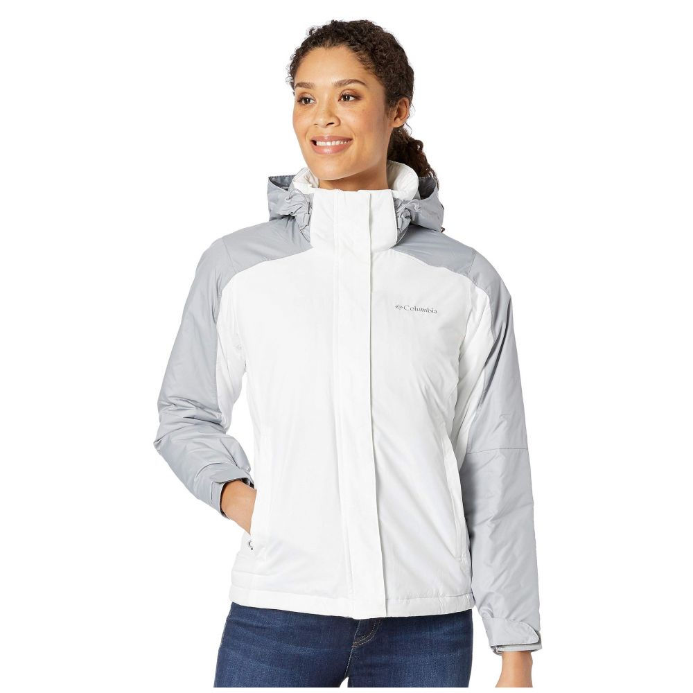コロンビア Columbia レディース スキー・スノーボード アウター【Gotcha Groovin Jacket】White Emboss/Columbia Grey Emboss