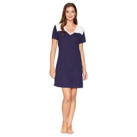 ノーティカ Nautica レディース インナー・下着 パジャマ・トップのみ【Color Block Pullover Sleepshirt】Evening Blue