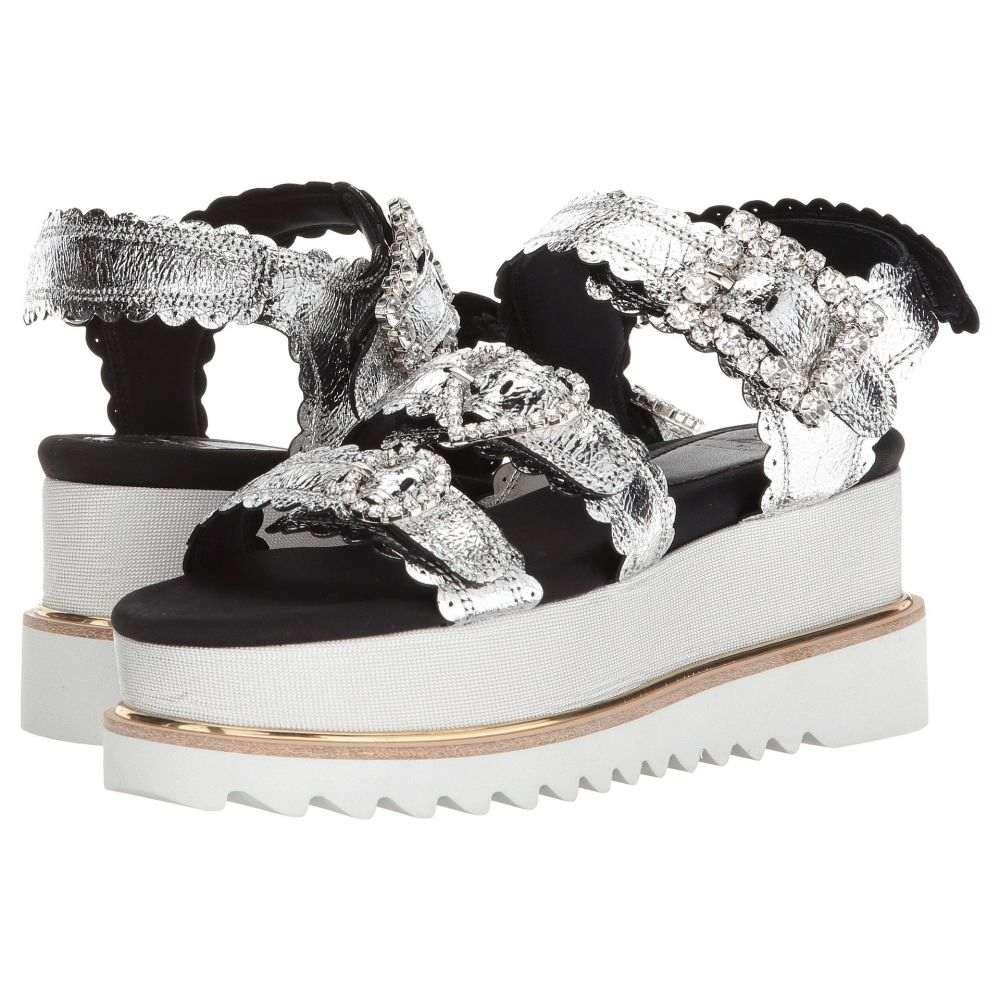 シューコンマボニー Suecomma Bonnie レディース シューズ・靴 サンダル・ミュール【Jewel Buckle Platform Sandals】Silver