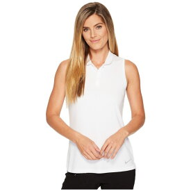 ナイキ Nike Golf レディース ゴルフ トップス【Dry Polo Sleeve Texture】White/Silver