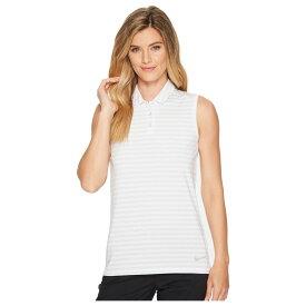 2556b17d57f4d ナイキ Nike Golf レディース トップス ポロシャツ【Dry Sleeveless Striped Polo】Pure  Platinum/White
