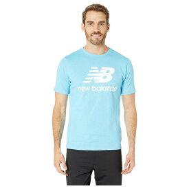 5ff71ec7368b0 ニューバランス New Balance メンズ トップス Tシャツ【Essentials Stacked Logo Tee】Enamel Blue
