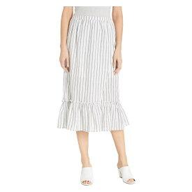 ミンクピンク MINKPINK レディース スカート ひざ丈スカート【Baja Faux Wrap Midi Skirt】White/Black