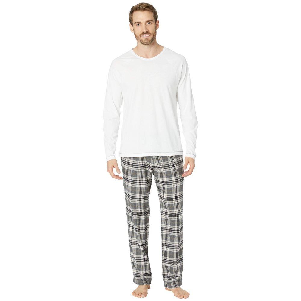 アグ UGG メンズ インナー・下着 パジャマ・上下セット【Steiner Woven Sleepwear Set Gift Box】Charcoal/White