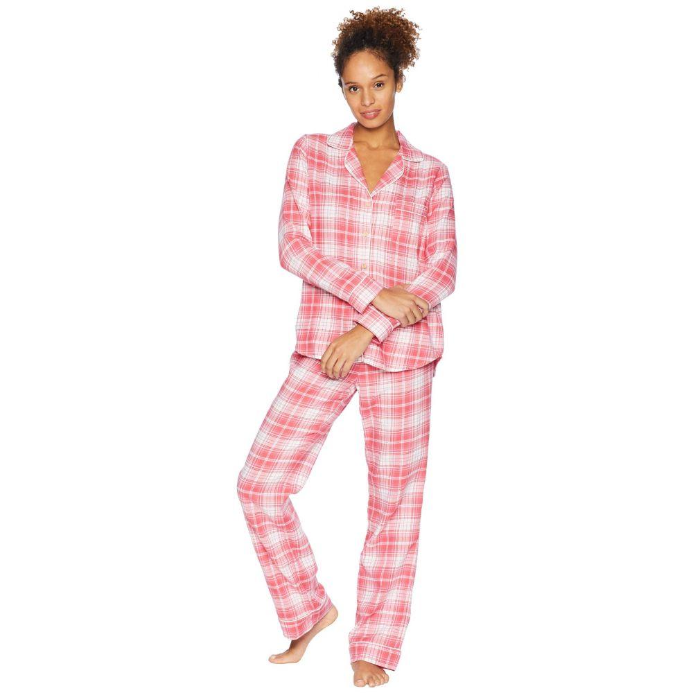 アグ UGG レディース インナー・下着 パジャマ・上下セット【Raven Woven Sleepwear Set Flannel Gift】Claret Red Plaid