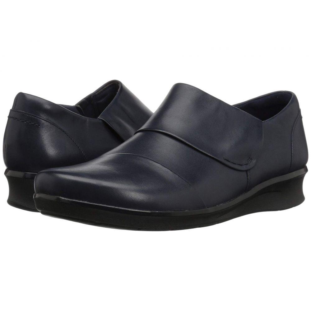 クラークス Clarks レディース シューズ・靴 ローファー・オックスフォード【Hope Race】Navy Leather