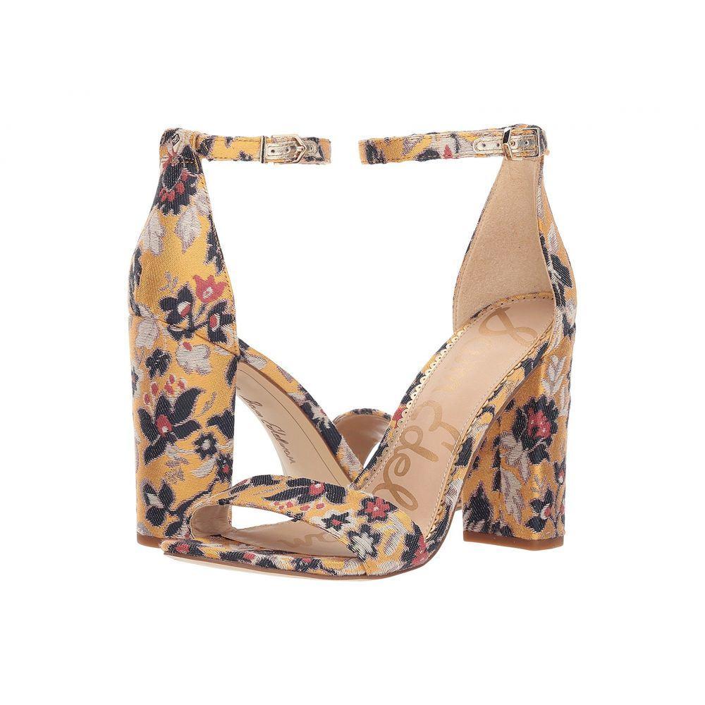 サム エデルマン Sam Edelman レディース シューズ・靴 サンダル・ミュール【Yaro Ankle Strap Sandal Heel】Tuscan Yellow Multi Gatsby Floral Jacquard