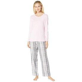 ノーティカ Nautica レディース インナー・下着 パジャマ・上下セット【Cotton Flannel Pajama Set】Land Pink Plaid