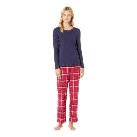 ノーティカ Nautica レディース インナー・下着 パジャマ・上下セット【Cotton Flannel Pajama Set】End Red Plaid