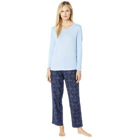 ノーティカ Nautica レディース インナー・下着 パジャマ・上下セット【Cotton Flannel Pajama Set】Nautical Stitching