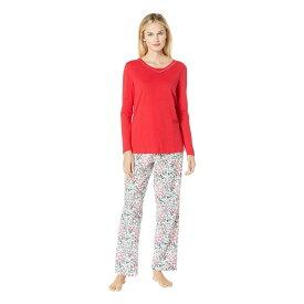 ノーティカ Nautica レディース インナー・下着 パジャマ・上下セット【Cotton Flannel Pajama Set】Cold Berry