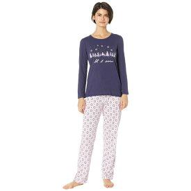 ノーティカ Nautica レディース インナー・下着 パジャマ・上下セット【Graphic Pajama Set】Pink Geo