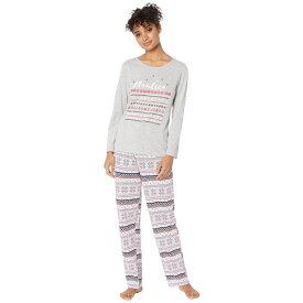 ノーティカ Nautica レディース インナー・下着 パジャマ・上下セット【Graphic Pajama Set】Pink Print