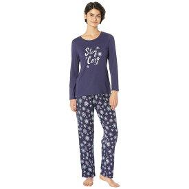 ノーティカ Nautica レディース インナー・下着 パジャマ・上下セット【Graphic Pajama Set】Navy Print