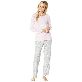 ノーティカ Nautica レディース インナー・下着 パジャマ・上下セット【Graphic Pajama Set】Grey Print