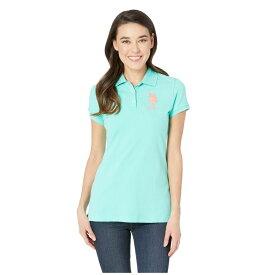 ユーエスポロアッスン U.S. POLO ASSN. レディース トップス ポロシャツ【Neon Logos Short Sleeve Polo Shirt】Cool Breeze